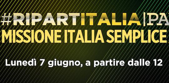 #RIPARTITALIA/PA - Missione Italia semplice 2021
