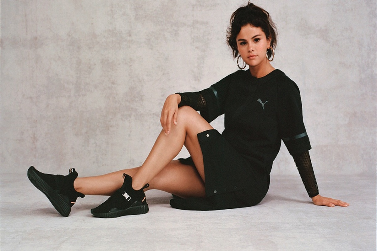 PUMA Donna Selena Gomez Nero Nero Defy Scarpe da ginnastica