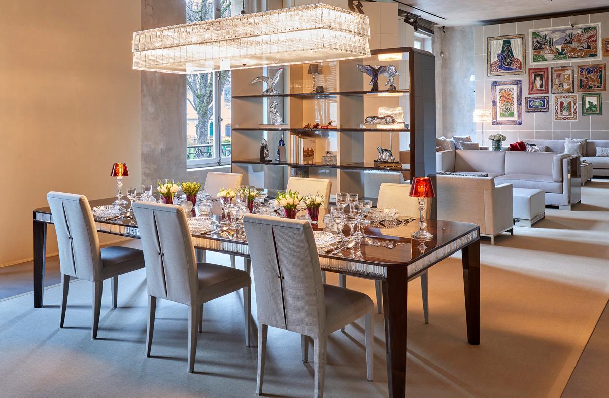Baccarat svela il design con luxury living group for Arredamenti parigini