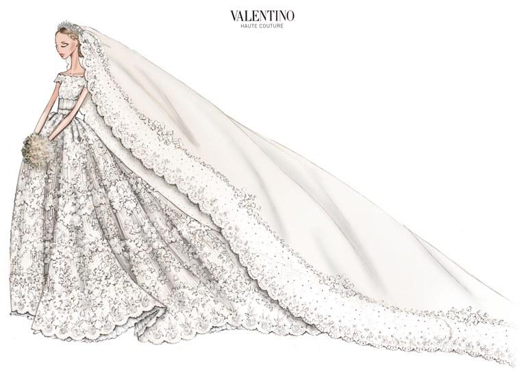 buy popular d2c00 68989 Valentino disegna l'abito da sposa della Principessa ...